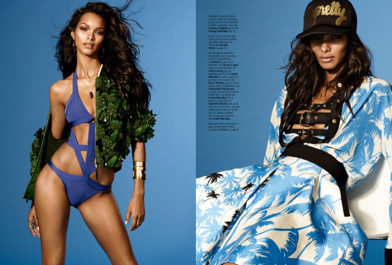 lais ribeiro photo shoot 2014 2 Lais Ribeiro is Ready for the World Cup in S Moda by Jonas Bresnan