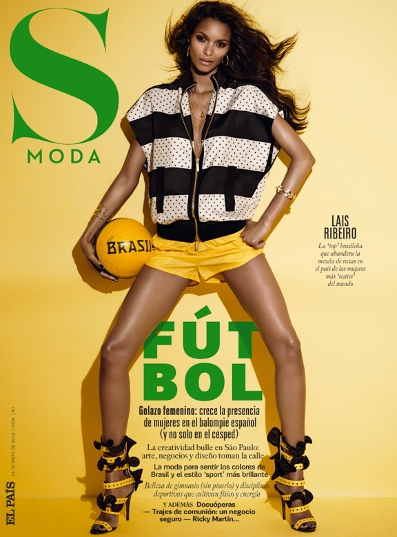 lais ribeiro photo shoot 2014 5 Lais Ribeiro is Ready for the World Cup in S Moda by Jonas Bresnan