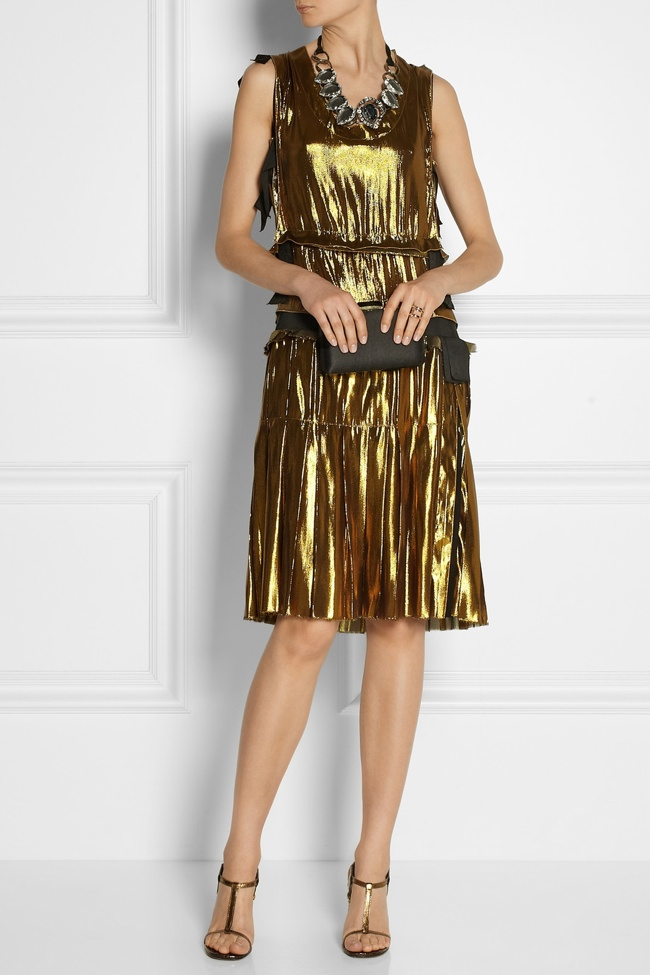 lanvin metallic dress Net a Porter US Sale Offers 50% Reductions