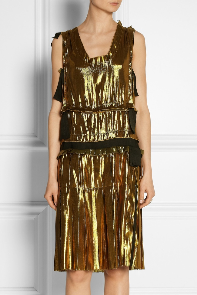lanvin metallic dress2 Net a Porter US Sale Offers 50% Reductions