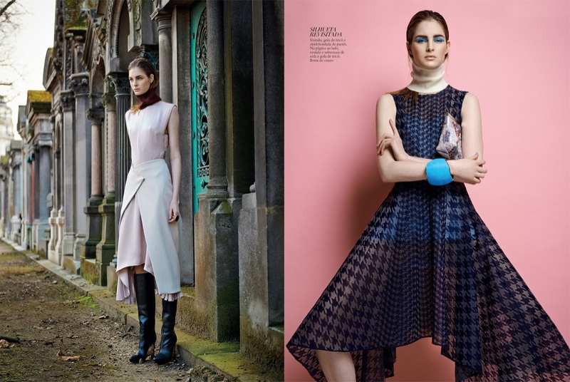 laura love 2014 5 Laura Love Wears Dior Pre Fall for Harpers Bazaar Brazil by Thanassis Krikis