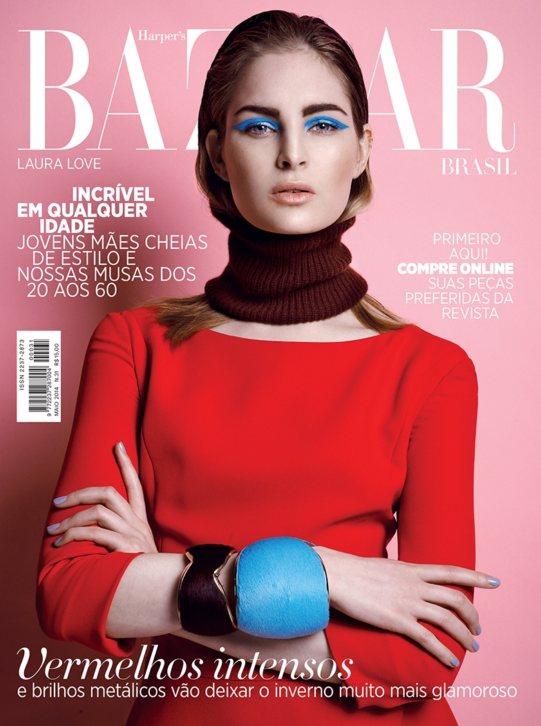 laura love 2014 7 Laura Love Wears Dior Pre Fall for Harpers Bazaar Brazil by Thanassis Krikis