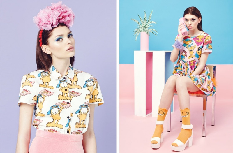 lazy oaf garfield clothing4 Lazy Oaf x Garfield: A Colorful Spring Collaboration