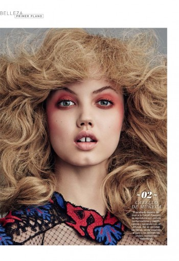 Lindsey Wixson Transforms in S Moda Beauty Shoot by David Roemer