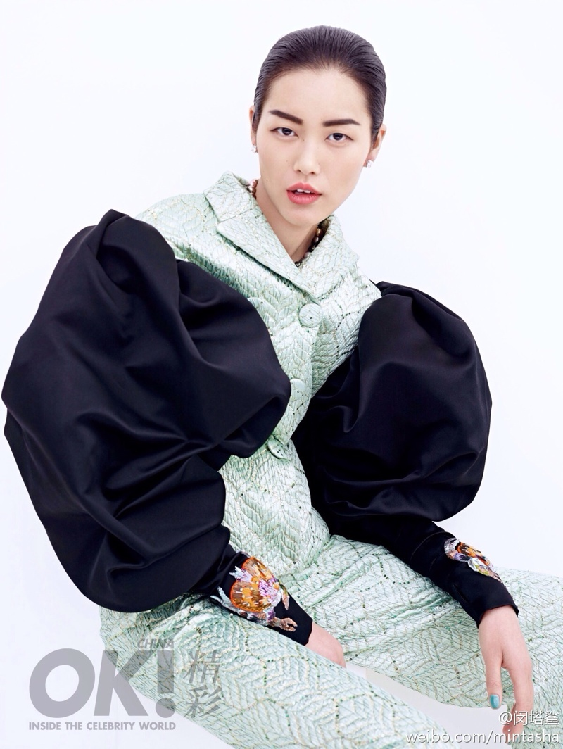 liu wen dresses02 Liu Wen Wears Gowns, Diamonds for 2nd Anniversary Shoot of OK! China