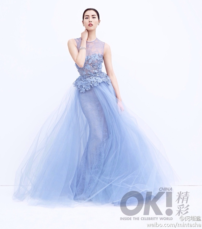 liu wen dresses05 Liu Wen Wears Gowns, Diamonds for 2nd Anniversary Shoot of OK! China