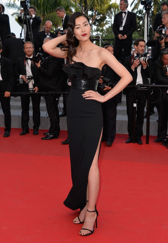 liu wen saint laurent dress Cannes Fashion: Amber Heard, Alessandra Ambrosio, Sofia Coppola + More