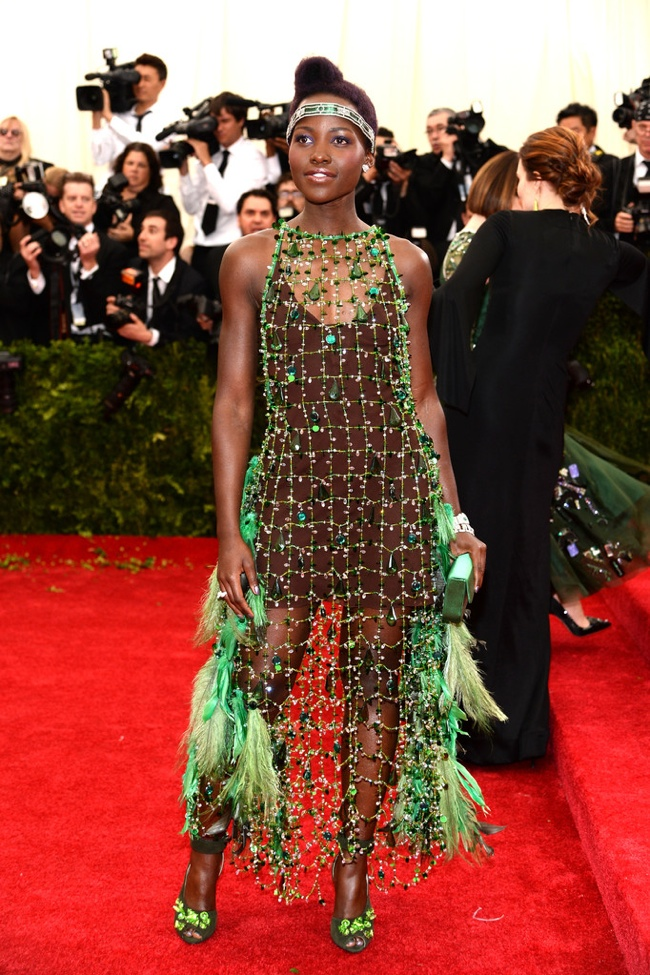 Lupita Nyong'o wears flapper chic Prada outfit