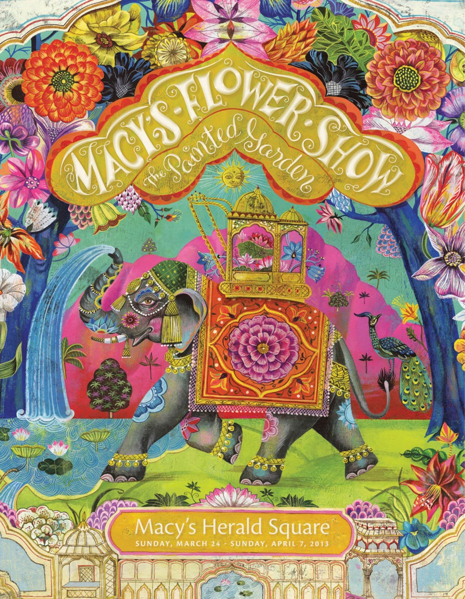 "Macy's ""Flower Show"" Poster won the best design for a mass market print campaign"