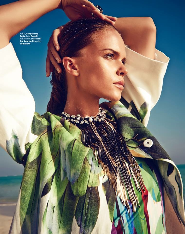 maldives fashion shoot4 Viktoria Halenarova Models Swimwear for Bazaar Czech by Andreas Ortner