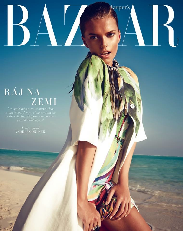 maldives fashion shoot6 Viktoria Halenarova Models Swimwear for Bazaar Czech by Andreas Ortner