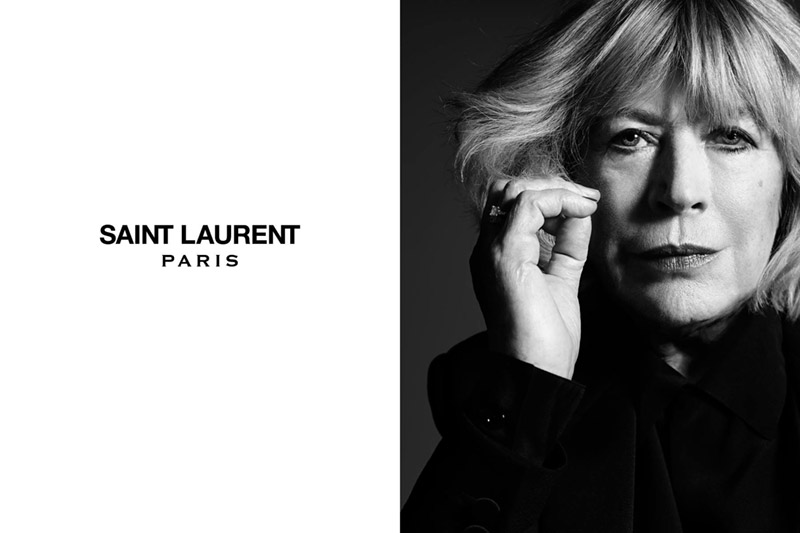 marianne faithful saint laurent Saint Laurent Taps Marianne Faithfull for Music Project Campaign by Hedi Slimane