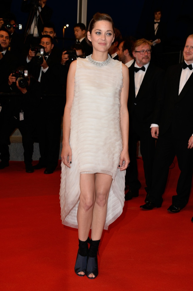 marion cotillard dior dress Cannes Fashion: Amber Heard, Alessandra Ambrosio, Sofia Coppola + More