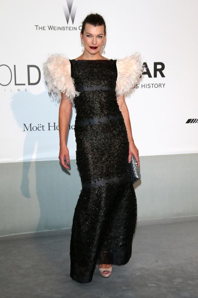 Milla Jovovich wore a Chanel dress