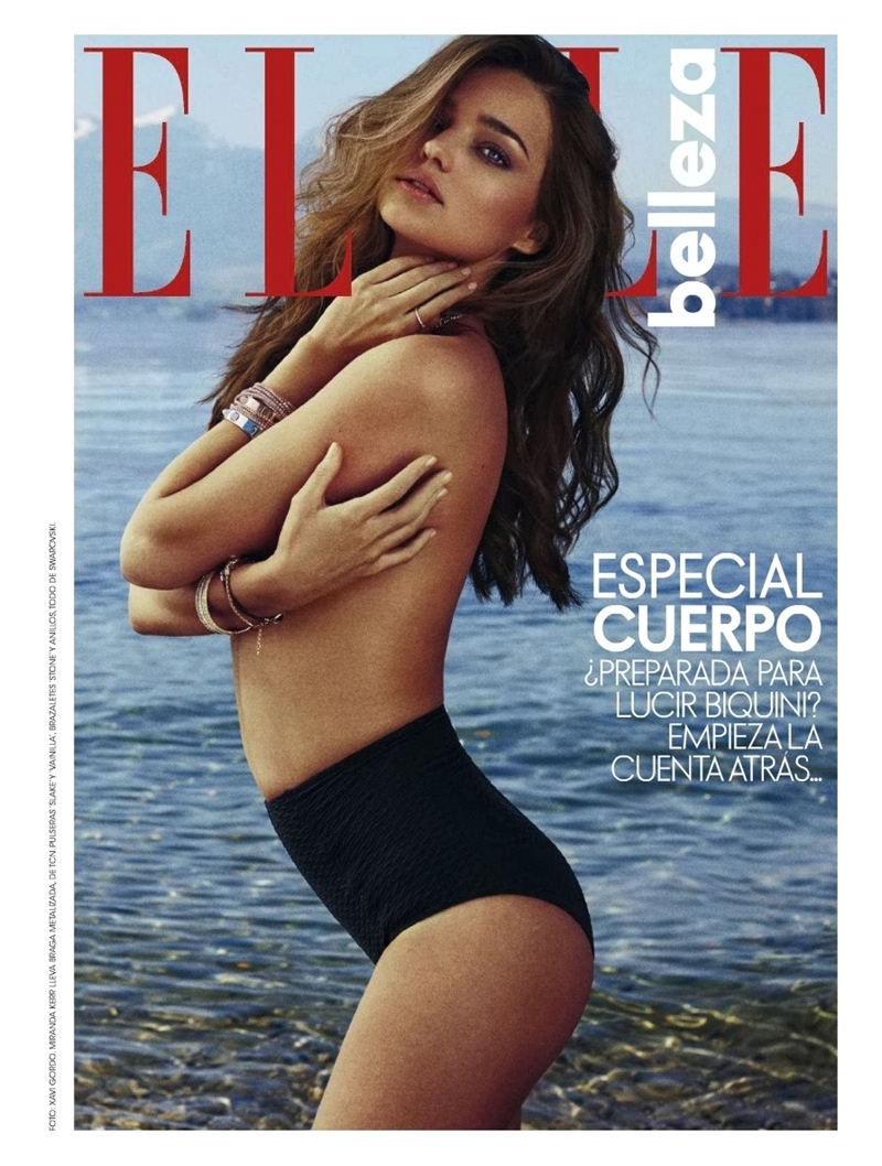 miranda kerr xavi gordo1 Miranda Kerr Models Swimsuits, Golden Tan for Elle Spain by Xavi Gordo