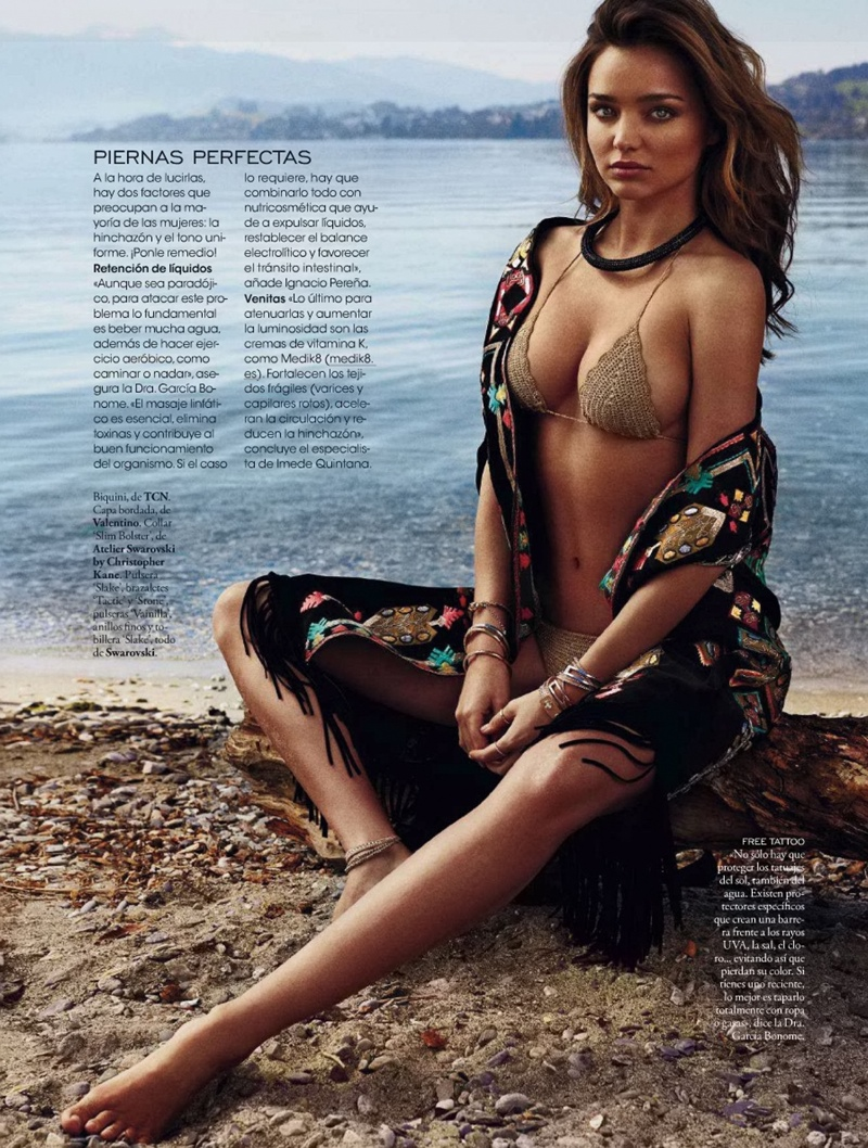 miranda kerr xavi gordo12 Miranda Kerr Models Swimsuits, Golden Tan for Elle Spain by Xavi Gordo