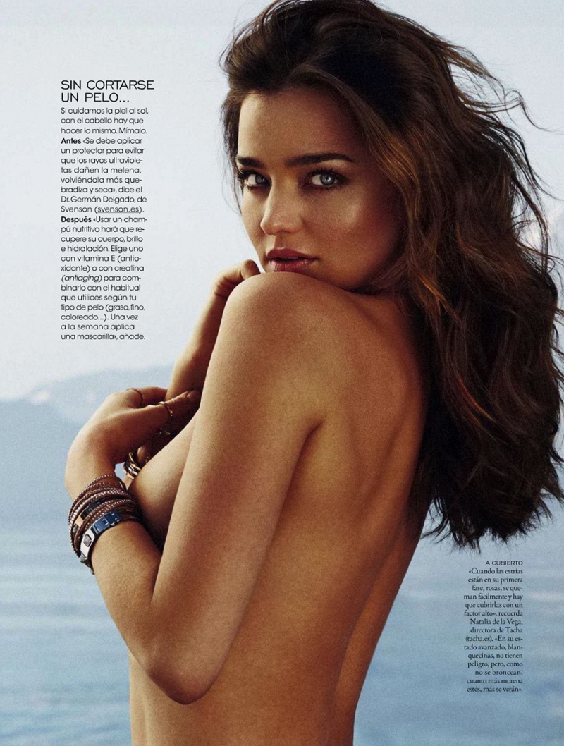miranda kerr xavi gordo14 Miranda Kerr Models Swimsuits, Golden Tan for Elle Spain by Xavi Gordo