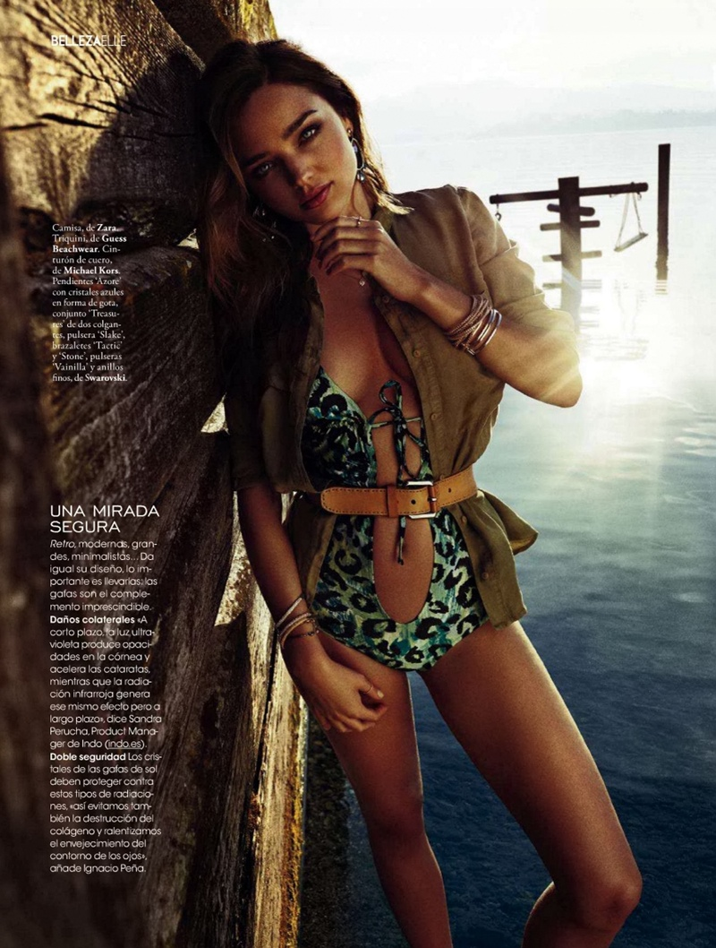 miranda kerr xavi gordo15 Miranda Kerr Models Swimsuits, Golden Tan for Elle Spain by Xavi Gordo