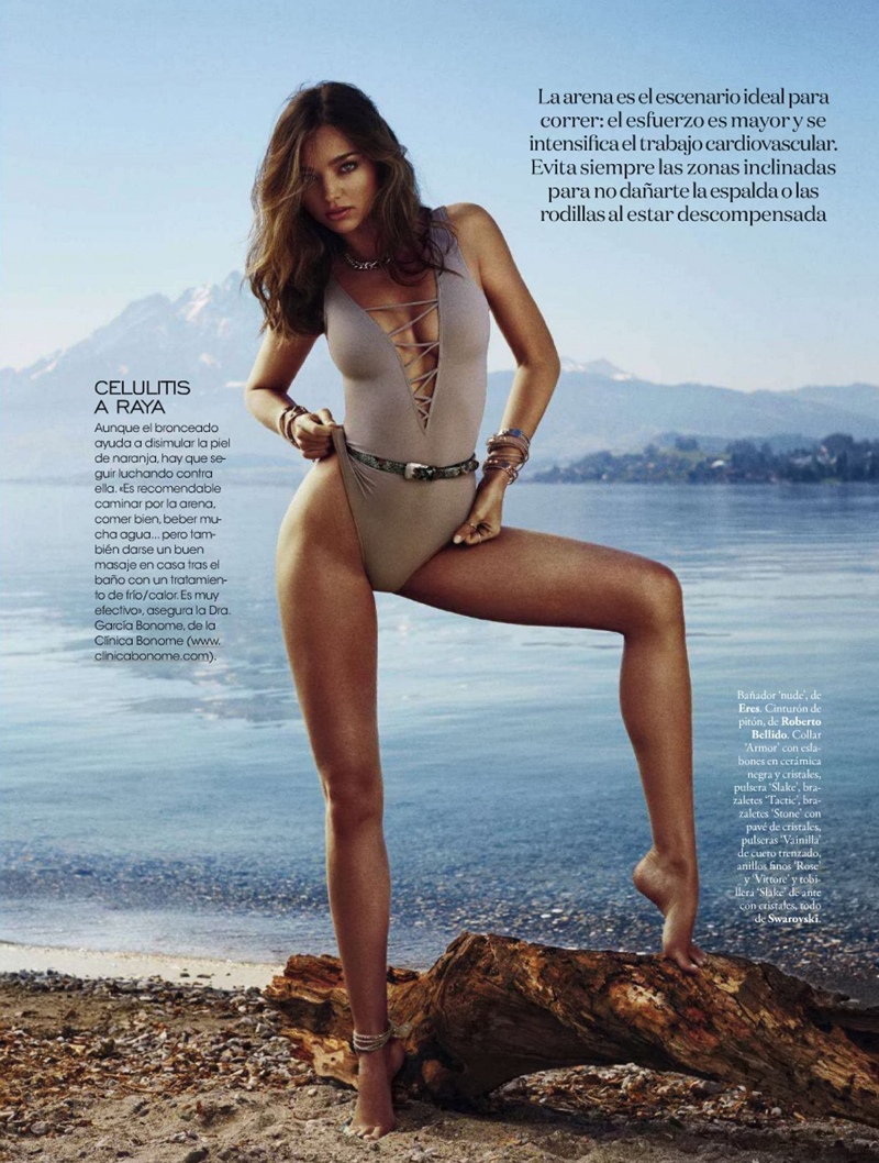 miranda kerr xavi gordo6 Miranda Kerr Models Swimsuits, Golden Tan for Elle Spain by Xavi Gordo