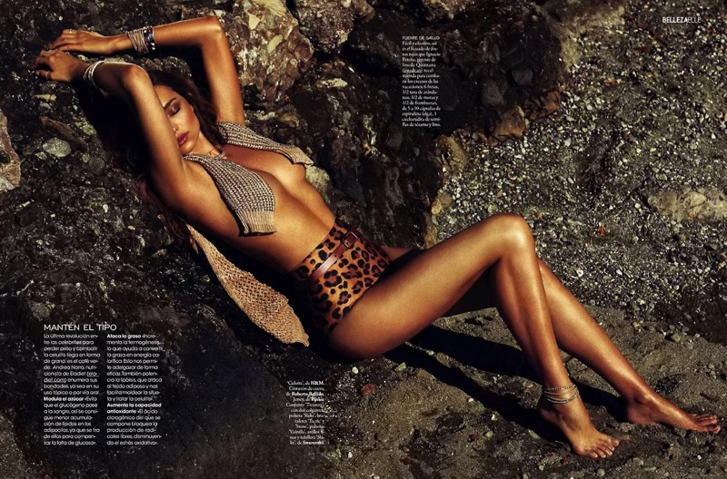 miranda kerr xavi gordo9 Miranda Kerr Models Swimsuits, Golden Tan for Elle Spain by Xavi Gordo