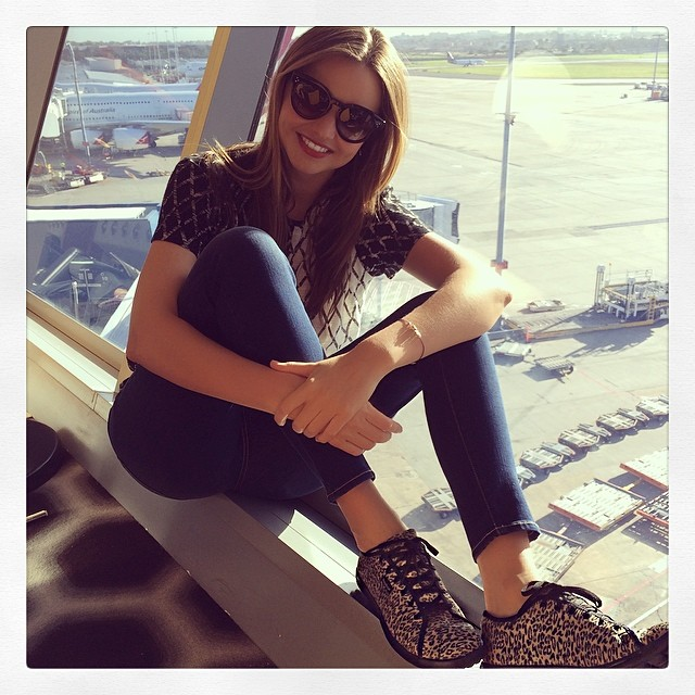 Miranda Kerr in a sporty look. Photo: Model's Instagram