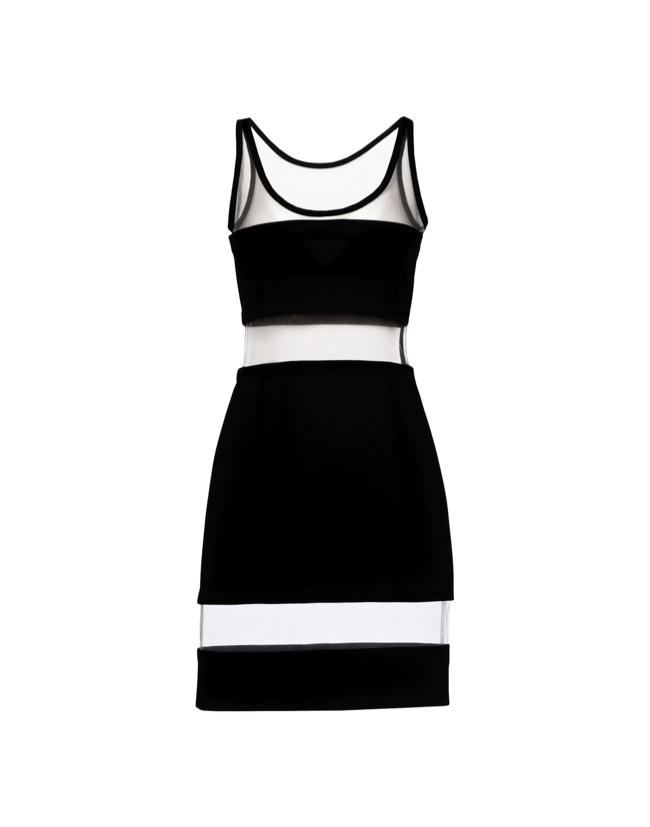 Moschino Fall/Winter 2014  Paneled Black Dress