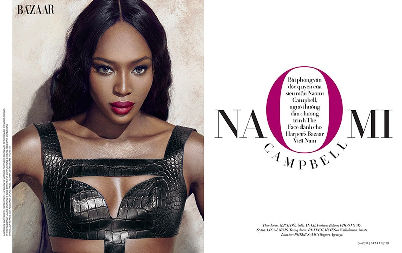 naomi campbell 2014 photo shoot1 Naomi Campbell Stuns in Bazaar Vietnam Shoot by An Le