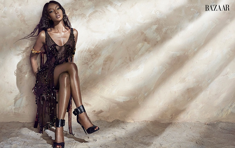 naomi campbell 2014 photo shoot3 Naomi Campbell Stuns in Bazaar Vietnam Shoot by An Le