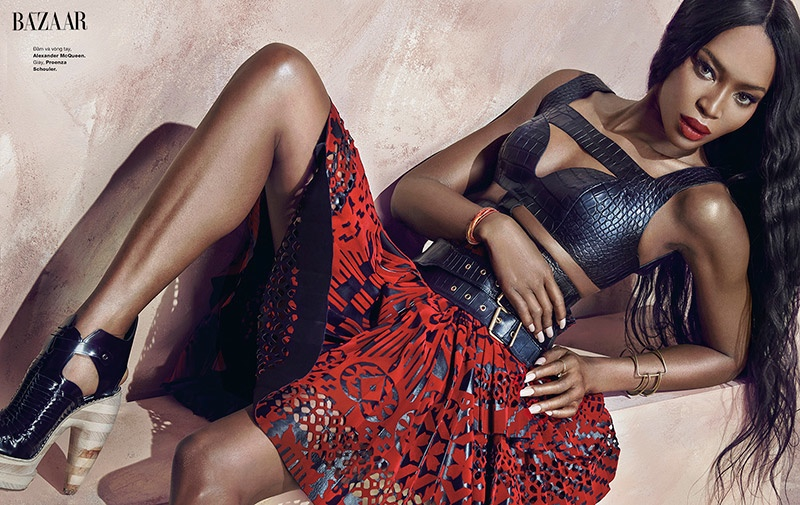 naomi campbell 2014 photo shoot5 Naomi Campbell Stuns in Bazaar Vietnam Shoot by An Le