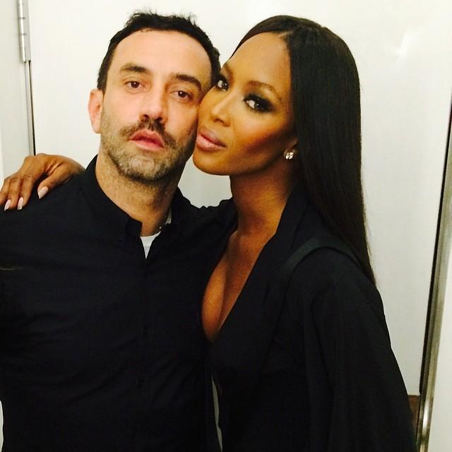 Naomi Campbell with Givenchy designer Riccardo Tisci