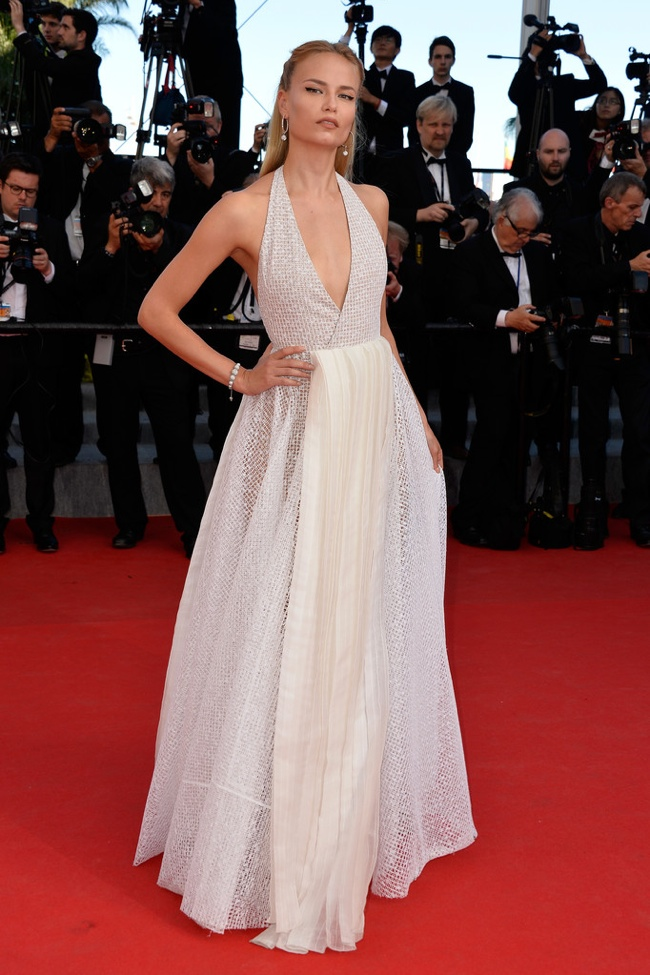 Natasha Poly also wore an elegant Vionnet frock