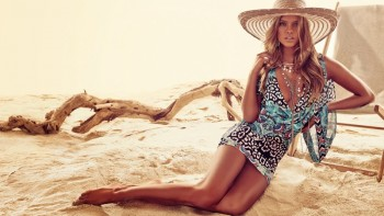 Nina Agdal for Bebe Summer 2014 Campaign by David Roemer