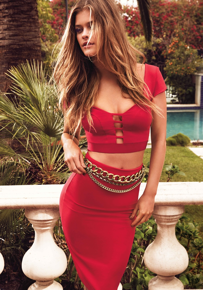 nina agdal bebe summer 2014 photos10  Nina Agdal Models Sexy Summer Styles for Bebe