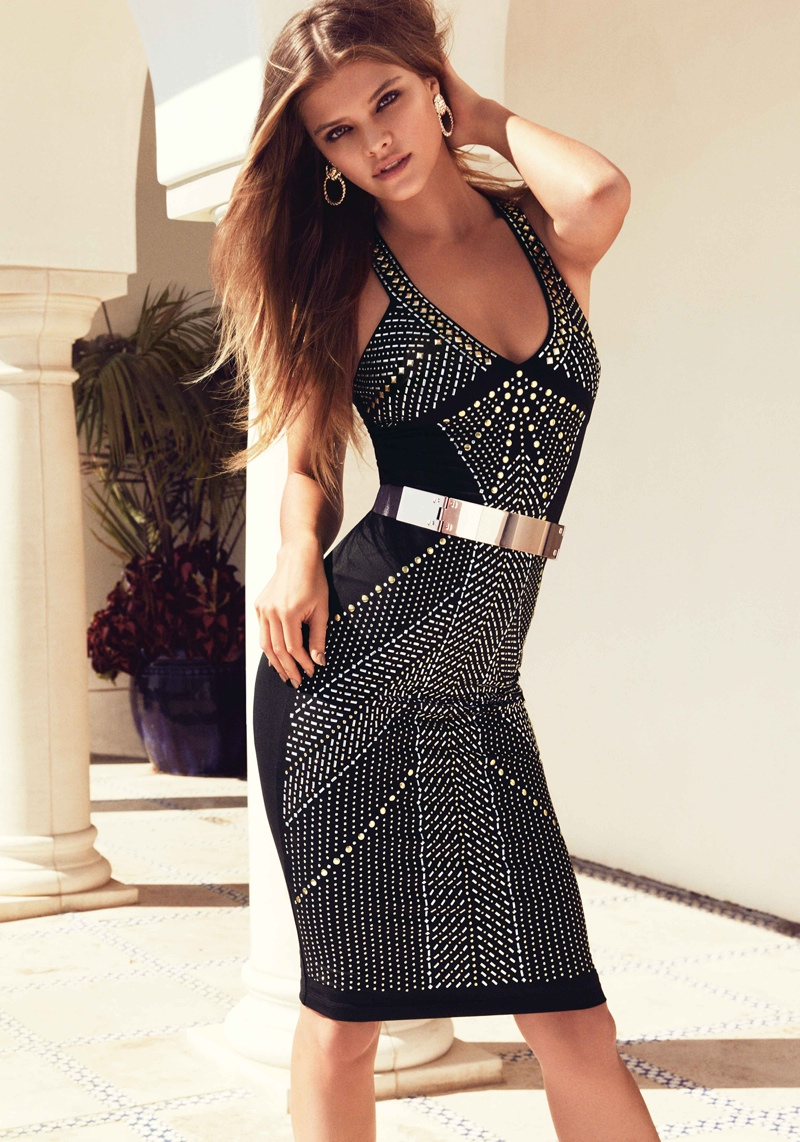 nina agdal bebe summer 2014 photos13  Nina Agdal Models Sexy Summer Styles for Bebe