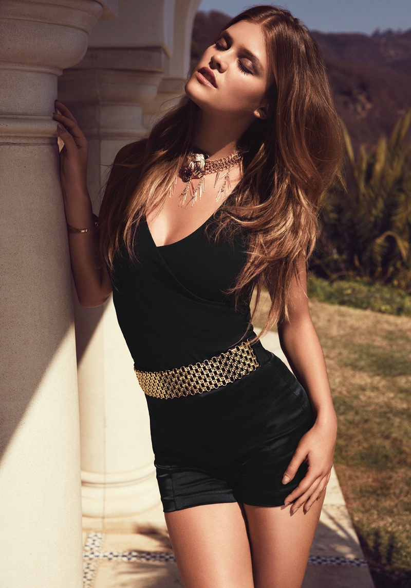 nina agdal bebe summer 2014 photos20  Nina Agdal Models Sexy Summer Styles for Bebe