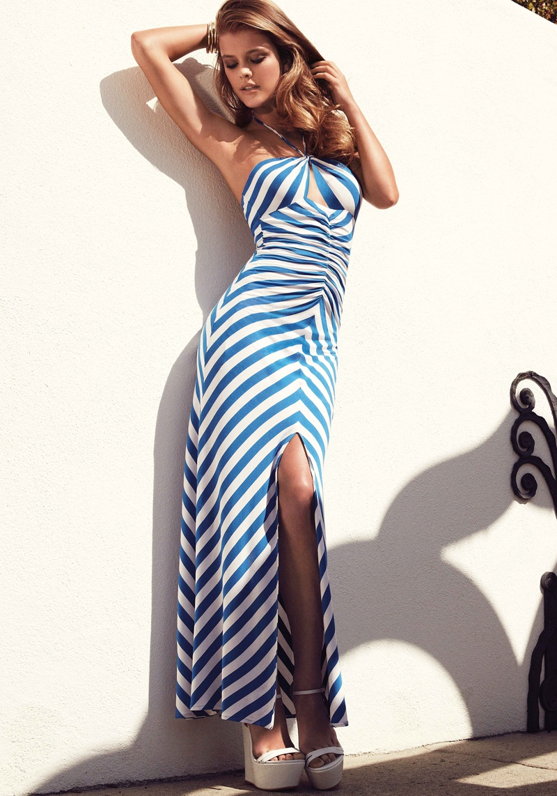 nina agdal bebe summer 2014 photos7  Nina Agdal Models Sexy Summer Styles for Bebe
