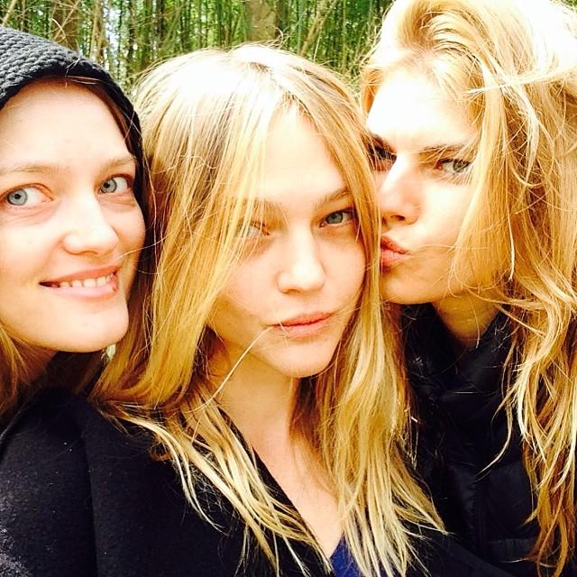 Vlada R., Sasha Pivovarova and Maryna Linchuk in no makeup image