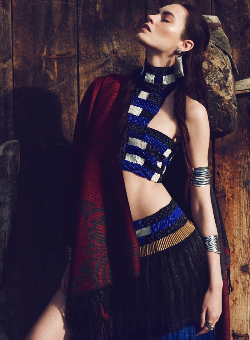 nomad fashion emre guven3 Patrycja Gardygajlo Dons Nomadic Fashion in Vogue Turkey by Emre Guven