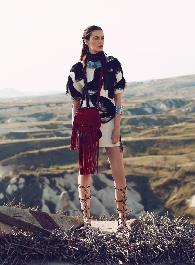 nomad fashion emre guven8 Patrycja Gardygajlo Dons Nomadic Fashion in Vogue Turkey by Emre Guven