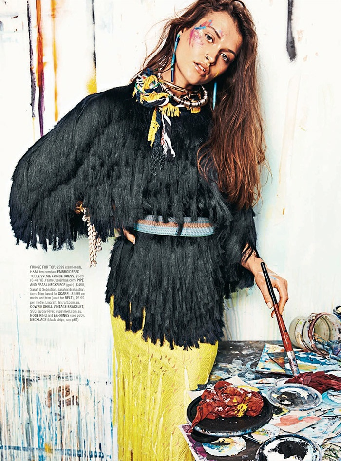 painted love shop mag8 Painted Love: Chloe Lecareux Gets Colorful in SHOP Magazine Spread