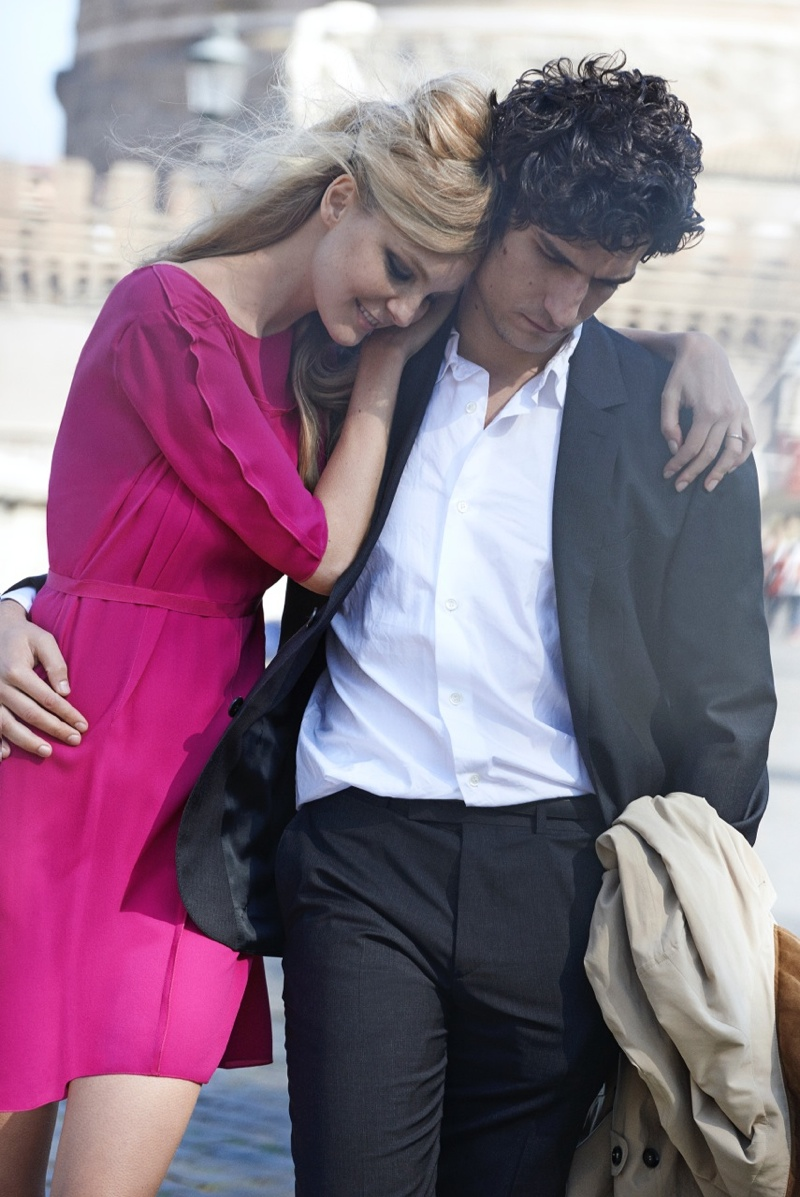 peter lindbergh roman holiday08 Caroline Trentini + Louis Garrel Get Romantic for Vogue Shoot by Peter Lindbergh