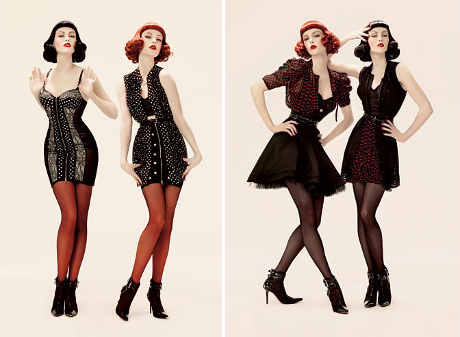 phi fall 2008 campaign2 TBT | Coco Rocha & Karen Elson Get Retro in Phis Fall 2008 Ads