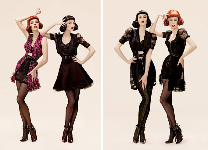 phi fall 2008 campaign3 TBT | Coco Rocha & Karen Elson Get Retro in Phis Fall 2008 Ads