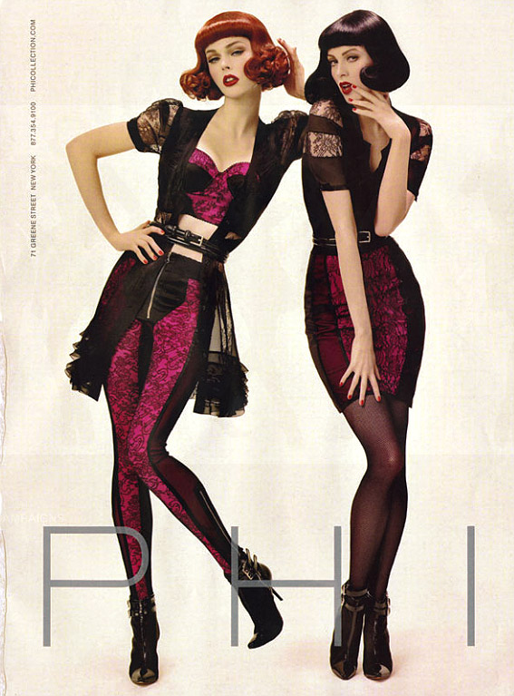 TBT | Coco Rocha & Karen Elson Get Retro in Phi's Fall 2008 Ads