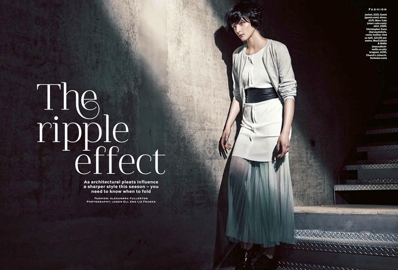 pleats stylist magazine1 The Ripple Effect: Zen Sevastyanova in Pleats for Stylist Magazine