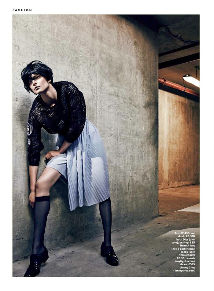 pleats stylist magazine2 The Ripple Effect: Zen Sevastyanova in Pleats for Stylist Magazine