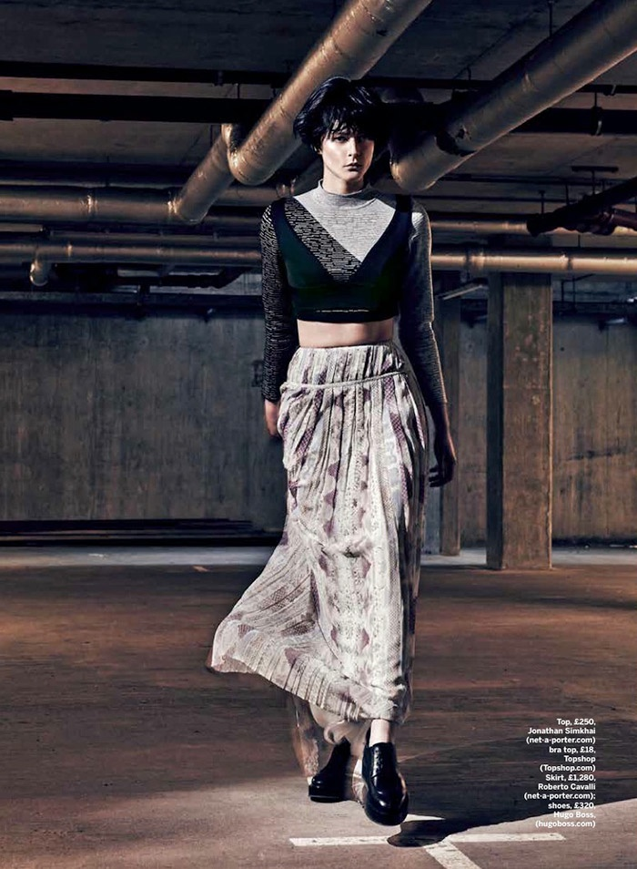 pleats stylist magazine3 The Ripple Effect: Zen Sevastyanova in Pleats for Stylist Magazine