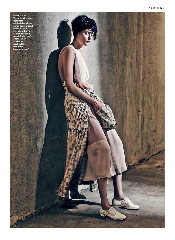 pleats stylist magazine3a The Ripple Effect: Zen Sevastyanova in Pleats for Stylist Magazine