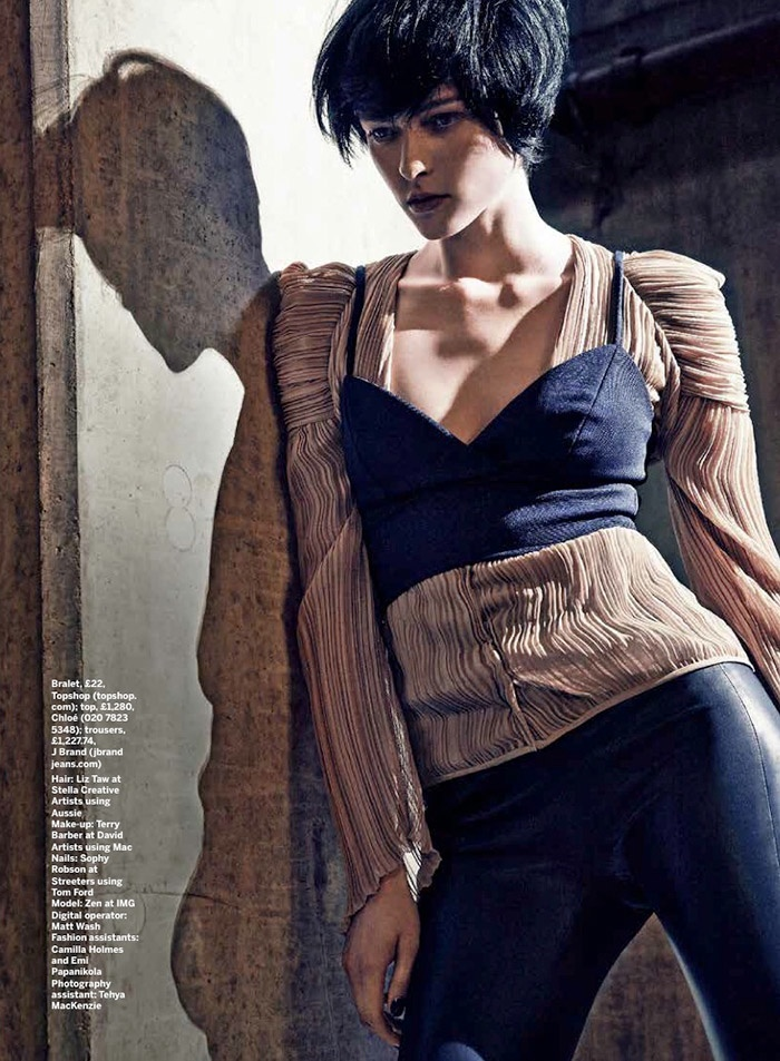 pleats stylist magazine4a The Ripple Effect: Zen Sevastyanova in Pleats for Stylist Magazine