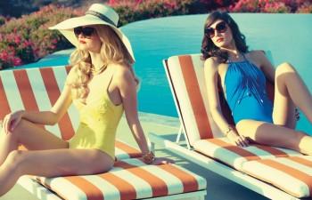 Pool Style: Lauren & Megi in Retro Swim for Tatler Russia by Diego Uchitel